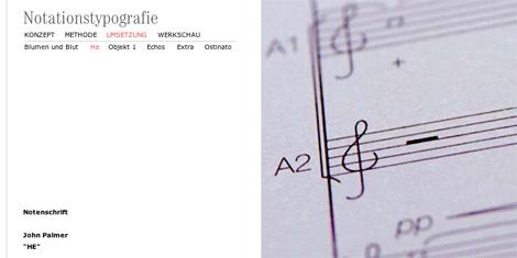 notationstypografie von Stephanie Türck