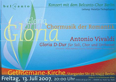 Konzert-Plakat Belcanto-Chor 07.2007