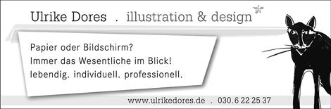 Anzeige Ulrike Dores Illustration und Design im Berliner FrauenBranchenbuch 2008