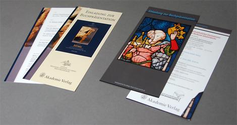 Arbeitsproben Einladungskarten für Buchvorstellungen