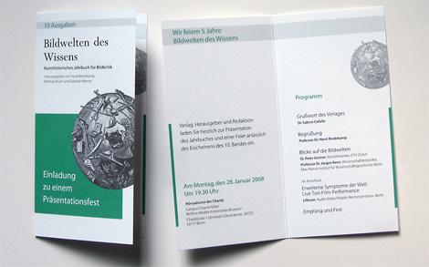 Arbeitsprobe _ Klappkarte – Einladung zu einer Jubiläums-Buchpräsentation