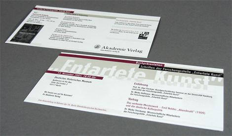 Arbeitsprobe _ Einladungskarte für Buchpräsentation