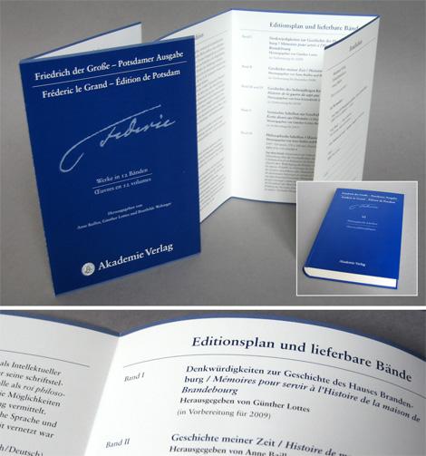 Arbeitsprobe _ Werbeflyer mehrbändige Buchreihe