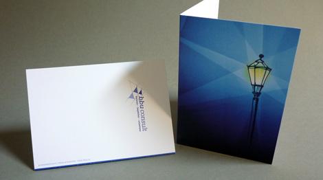 Weihnachtskarte für bbu-consult Motiv Laterne