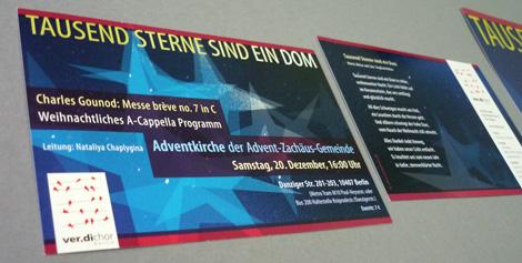 Abb Postkarte Adventskonzert ver.diChor Tausend-Sterne