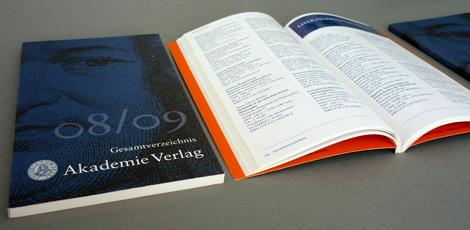Arbeitsbeispiel Katalog Gesamtverzeichnis AkademieVerlag0809