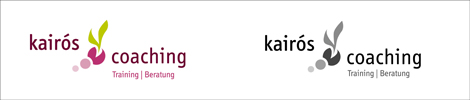 Logo-Entwurf kairos coaching Dr. Astrid Schürmann