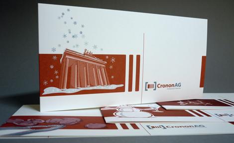 Arbeitsbeispiel Weihnachtskarten für die cronon AG