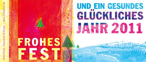 Ulrike Dores Weihnachts- und Neujahrskarte 2010-2011