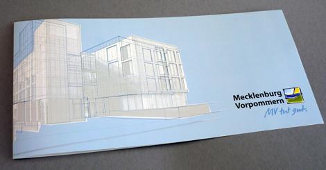 Illustrierte Grusskarte für Landesvertretung Mecklenburg-Vorpommern