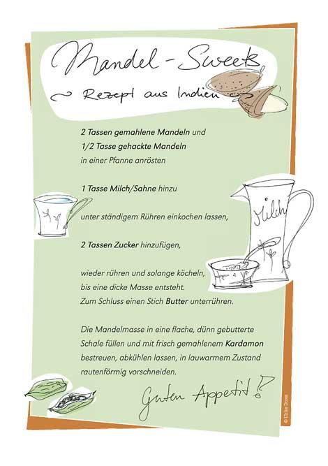 Ulrike Dores illustriertes Rezept Mandel-Sweets