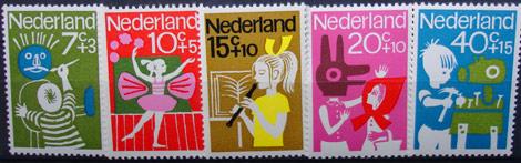kinder-briefmarken nederland