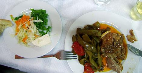 Mein Abendessen-Foto: Lamm mit Bohnen. grichisch und köstlich!