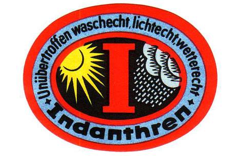 Indanthren-Logo - unübertroffen waschecht, lichtecht, wetterecht
