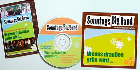 Arbeitsbeispiel Logo und CD-Cover SonntagsBigBand