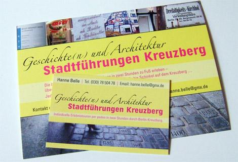 Arbeitsbeispiel Werbe-Postkarte Stadtführungen Kreuzberg