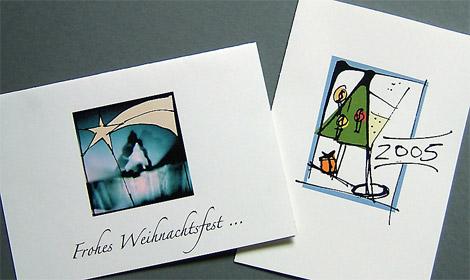 Ulrike Dores - Arbeitsbeispiel Weihnachtskarten