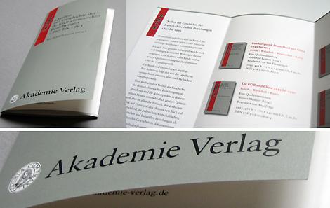 Arbeitsbeispiel Flyer für Akademie-Verlag
