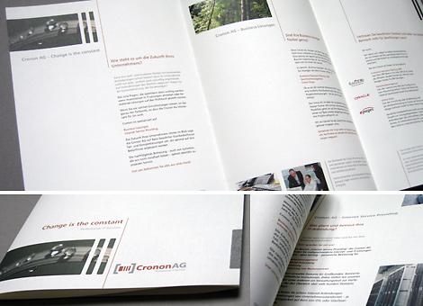 Arbeitsbeispiel Imagebroschüre für Cronon AG